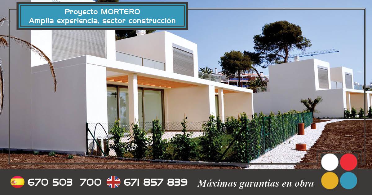 Fachadas con mortero blanco construcciones sinergia - Mortero para fachadas ...